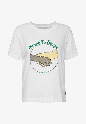 MYSEN FRIEND TO STRAYS - Print T-shirt - off-white