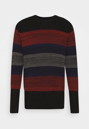 STRIPED CREWNECK SCTRUCTURED  - Pullover - combo