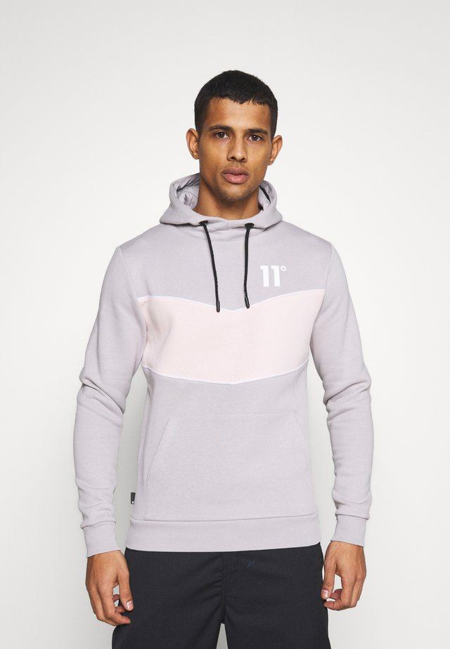 Hoodie - vapour grey / peach blush / white
