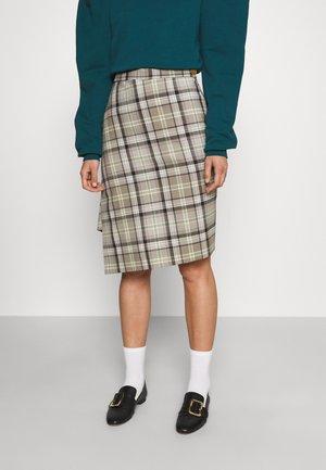 INFINITY SKIRT - Pouzdrová sukně - green/beige