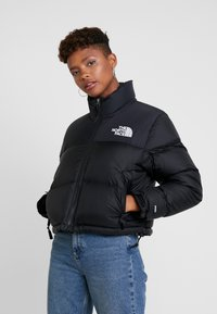 The North Face - NUPTSE CROP - Dunjakke - black - 0