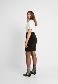 Kaffe Curve - KCPIA SKIRT - Mini skirt - black deep - 2