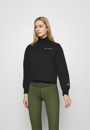 HALF ZIP ROCHESTER - Sweater - black