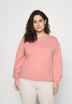 ACID WASH CREW NECK - Sweatshirt - pink