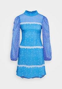 AYRA MINI DRESS - Korte jurk - blue