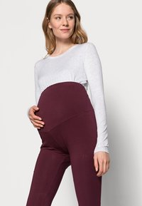 Anna Field MAMA - 3 PACK - Leggings - black/bordeaux/dark blue - 4