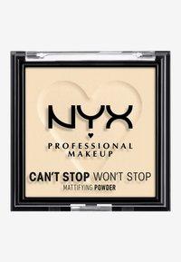 Nyx Professional Makeup - CAN'T STOP WON'T STOP MATTIFYING POWDER - Poudre - 01 fair - 1