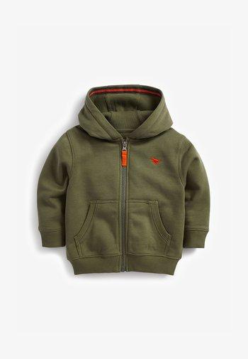 ESSENTIAL - Zip-up sweatshirt - khaki