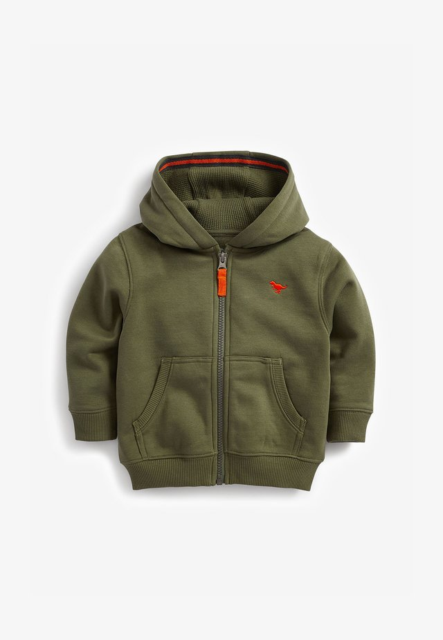 ESSENTIAL - Sweater met rits - khaki