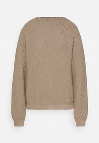 Anna Field - Diagonal jumper with grown on collar - Jumper - dark beige - 4
