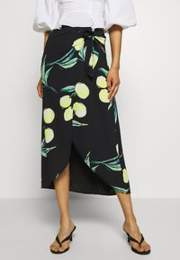 Who What Wear - SARONG SKIRT - A-line skirt - black - 0
