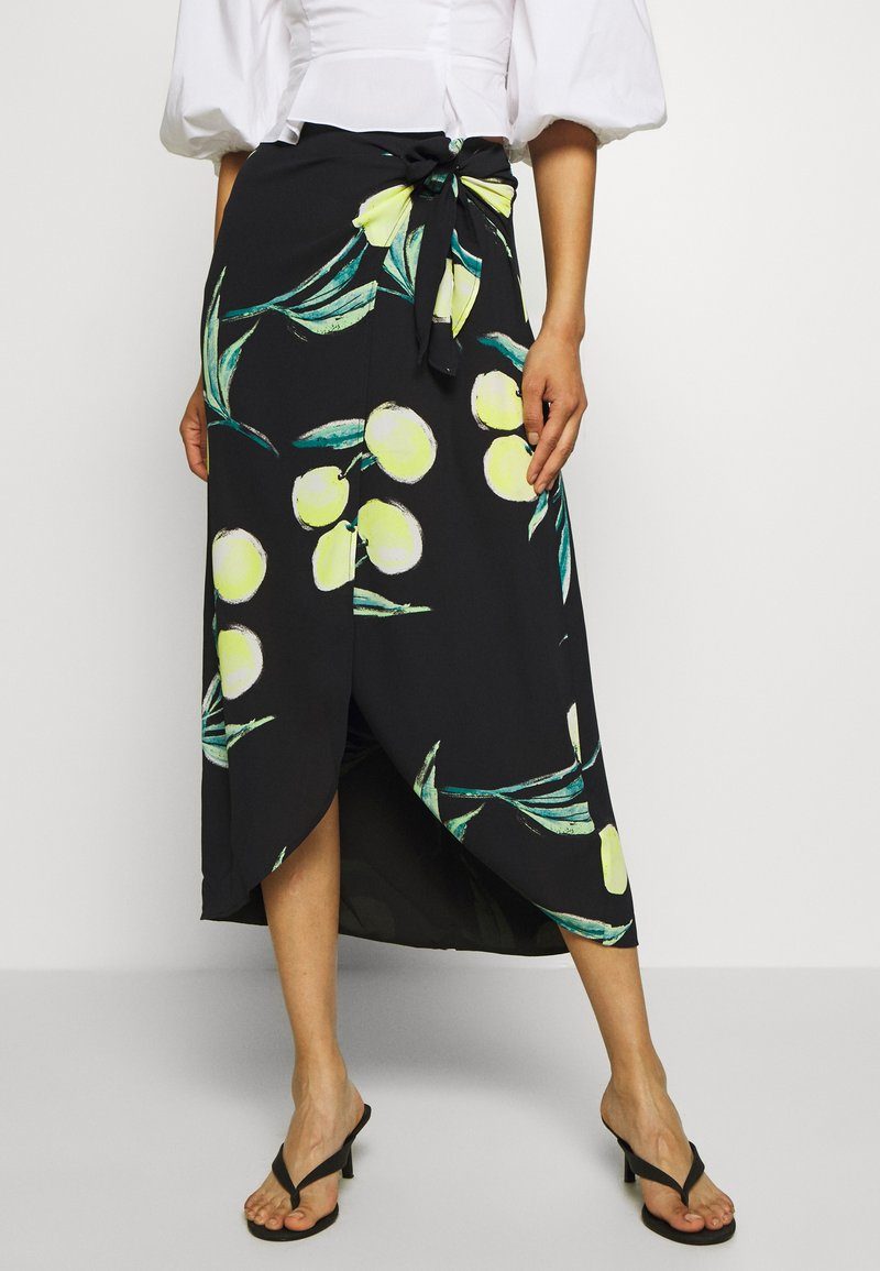 Who What Wear - SARONG SKIRT - A-line skirt - black