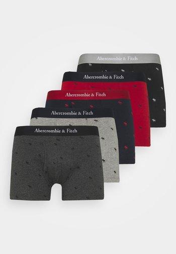 ICON TRUNK 5 PACK - Pants - black/light grey/red/dark grey