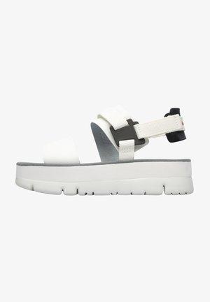 ORUGA UP - Korkeakorkoiset sandaalit - weiß
