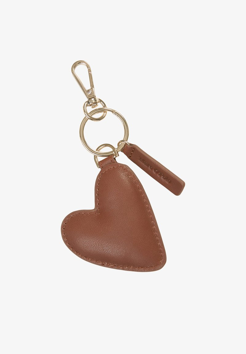 Marc O'Polo - MIT HERZ-ANHÄNGER - Keyring - maroon brown