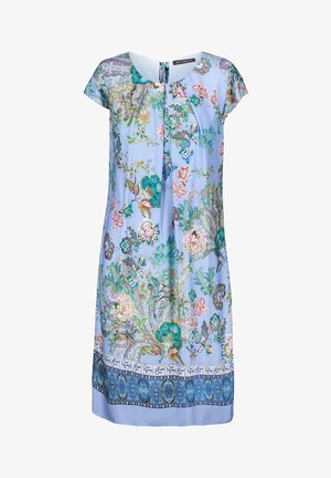 MIT BLUMENPRINT - Day dress - blue/rosé