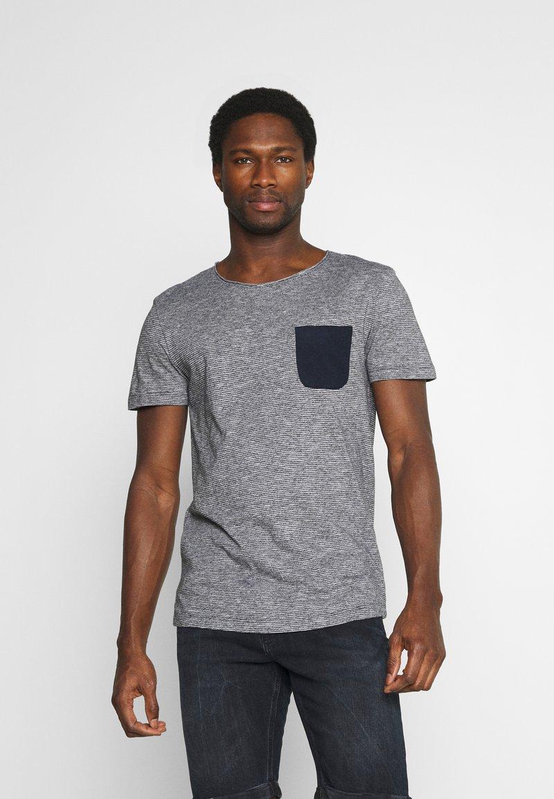 TOM TAILOR DENIM - Print T-shirt - dark blue