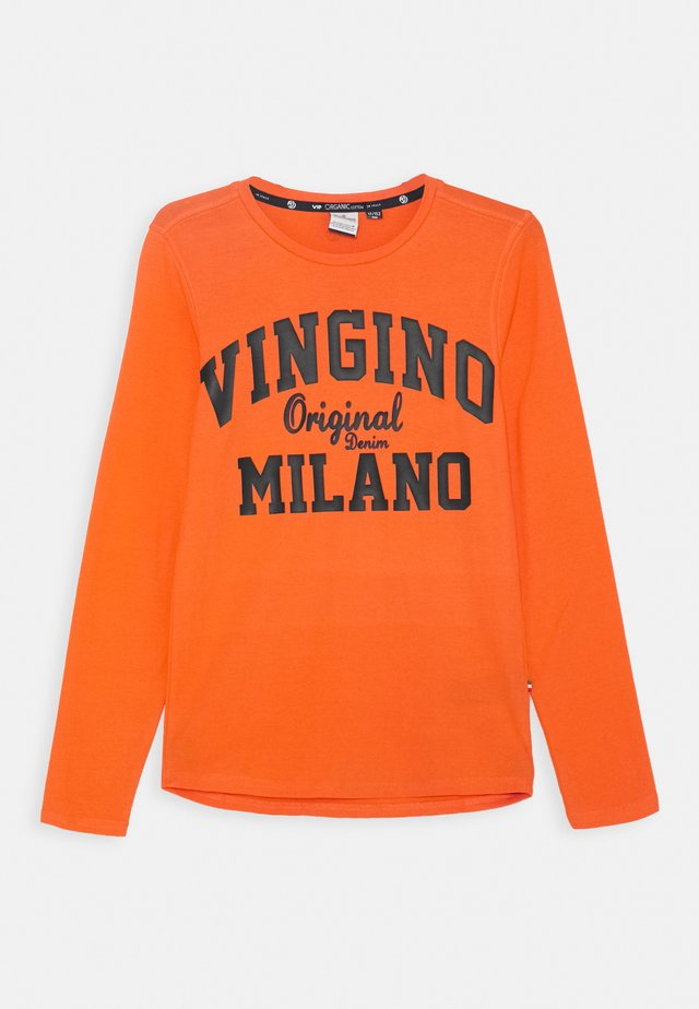 LOGO - Maglietta a manica lunga - orange red