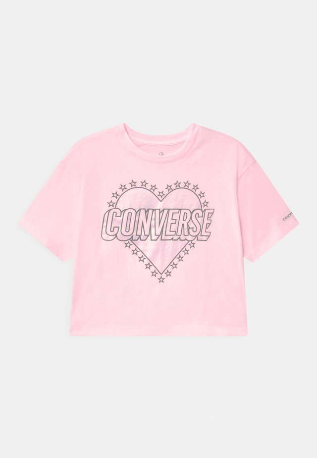 HEART WORDMARK  - Print T-shirt - pink foam