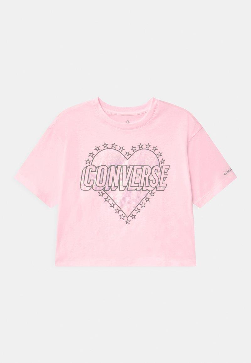 Converse - HEART WORDMARK  - Camiseta estampada - pink foam