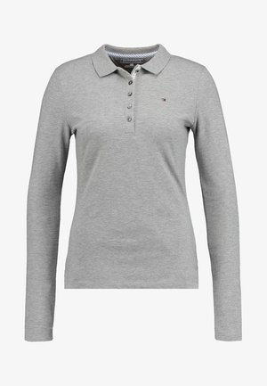 LONG SLEEVE SLIM - Polo shirt - grey