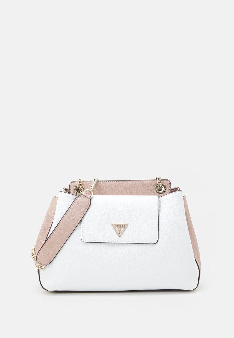 Guess - SANDRINE SHOULDER SATCHEL - Across body bag - white/multi