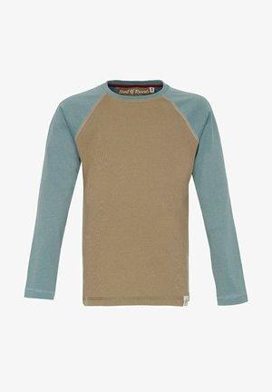 Long sleeved top - caramel arctic blue