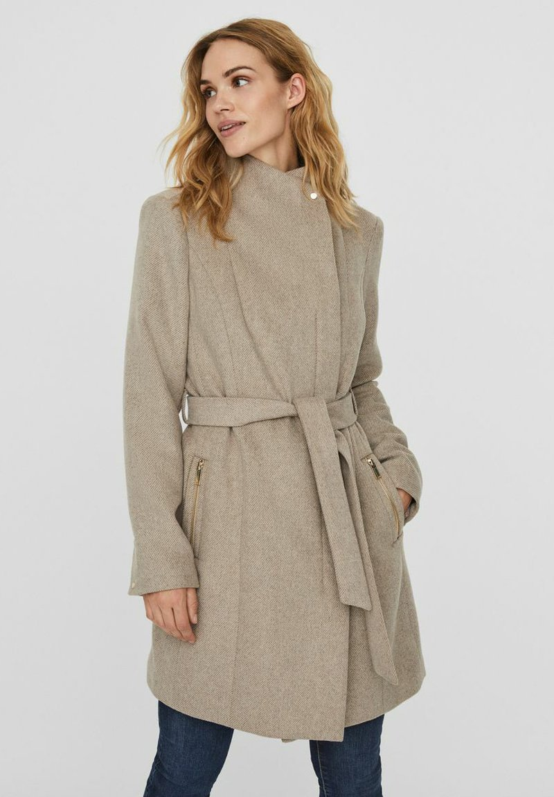 Vero Moda - Trenchcoat - silver mink