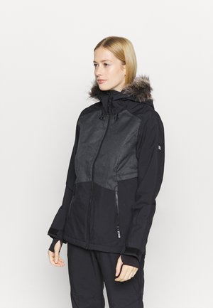 HALITE JACKET - Chaqueta de snowboard - black out