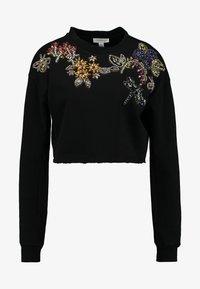 Topshop - FLOWER - Sweatshirt - black - 4