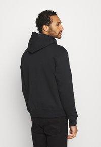 Nike SB - ICON HOODIE UNISEX - Luvtröja - black/white - 2