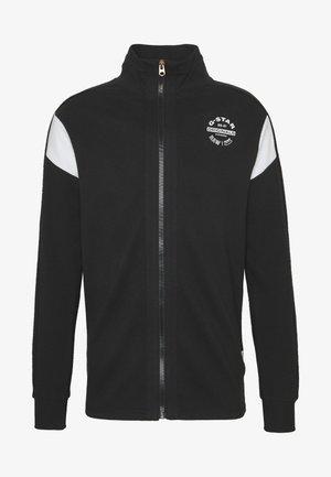 KORPAZ ZIP THROUGH ROUND LONG SLEEVE - Sweatjakke /Træningstrøjer - dark black