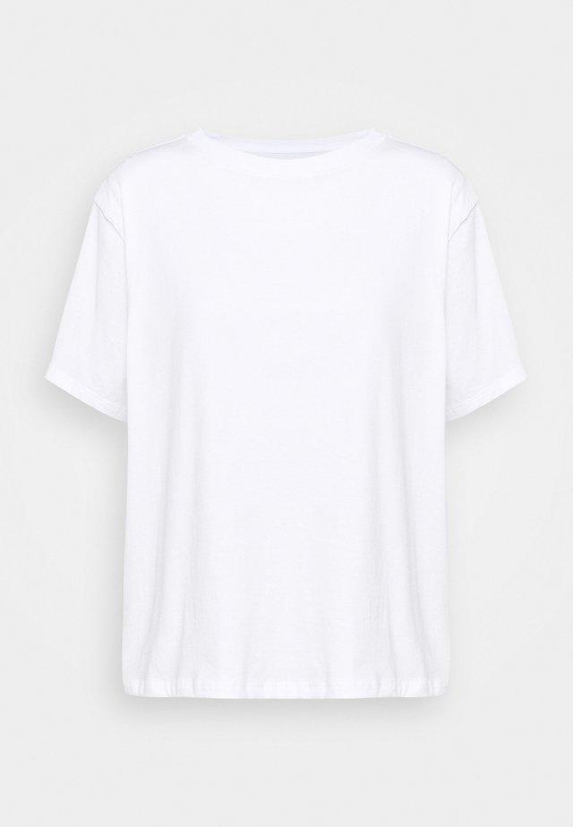 VINTAGE TEE - Printtipaita - white