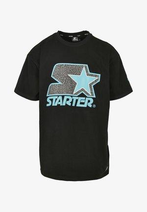 Print T-shirt - blk/tur