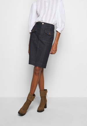 Denim skirt - royal navy