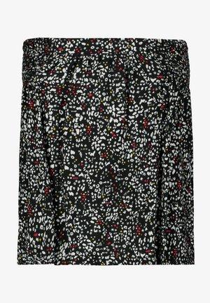Pliceret nederdel /Nederdele med folder - off black