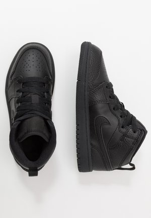 1 MID UNISEX - Basketball shoes - black