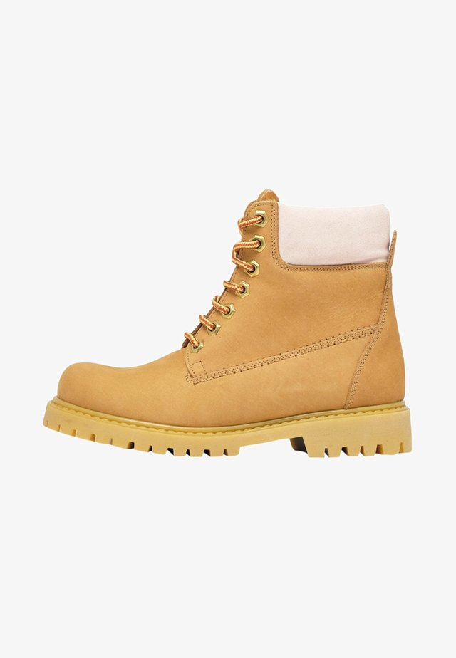 VINTAGE  - Lace-up ankle boots - beige