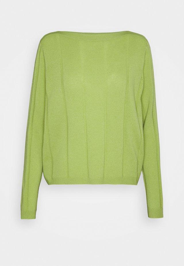BOATNECK - Stickad tröja - soft avocado