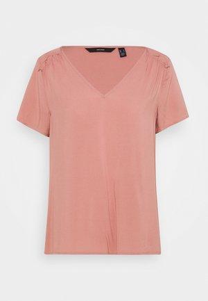 VMNADS SHOULDER FRILL - Basic T-shirt - old rose