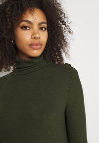G-Star - MOCK SLIM DRESS - Gebreide jurk - dark bronze green - 3