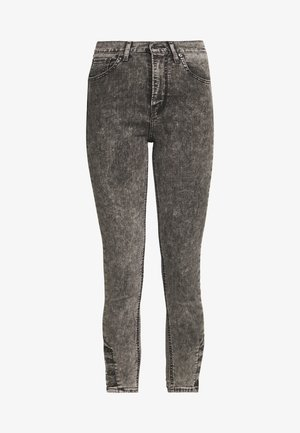 MILE HIGH ANK BUTTON HEM - Jeansy Skinny Fit - button on