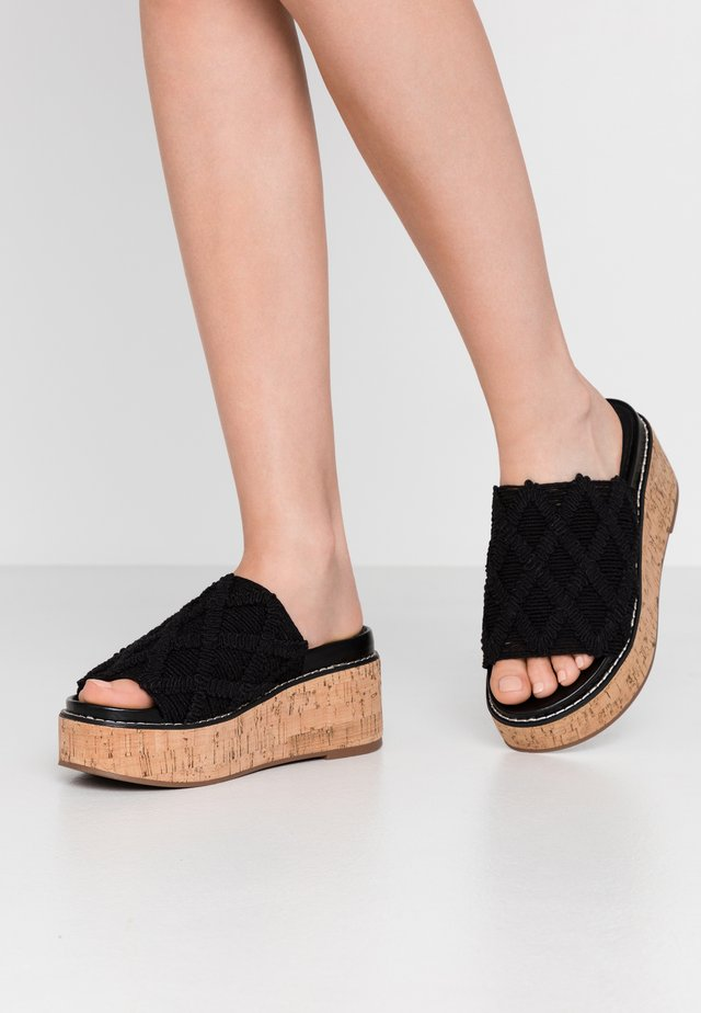 YEOK - Heeled mules - black