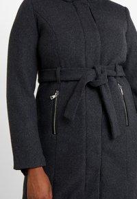 Vero Moda Curve - Manteau classique - dark grey melange - 5