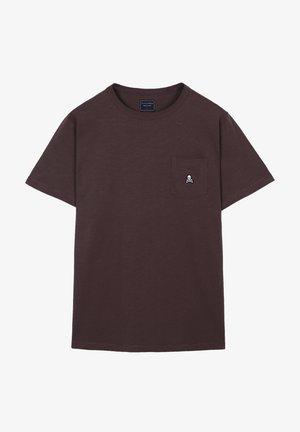 POCKET SKULL TEE - T-shirt basic - burgundy