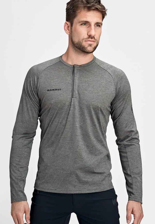 CRASHIANO - T-shirt à manches longues - phantom melange