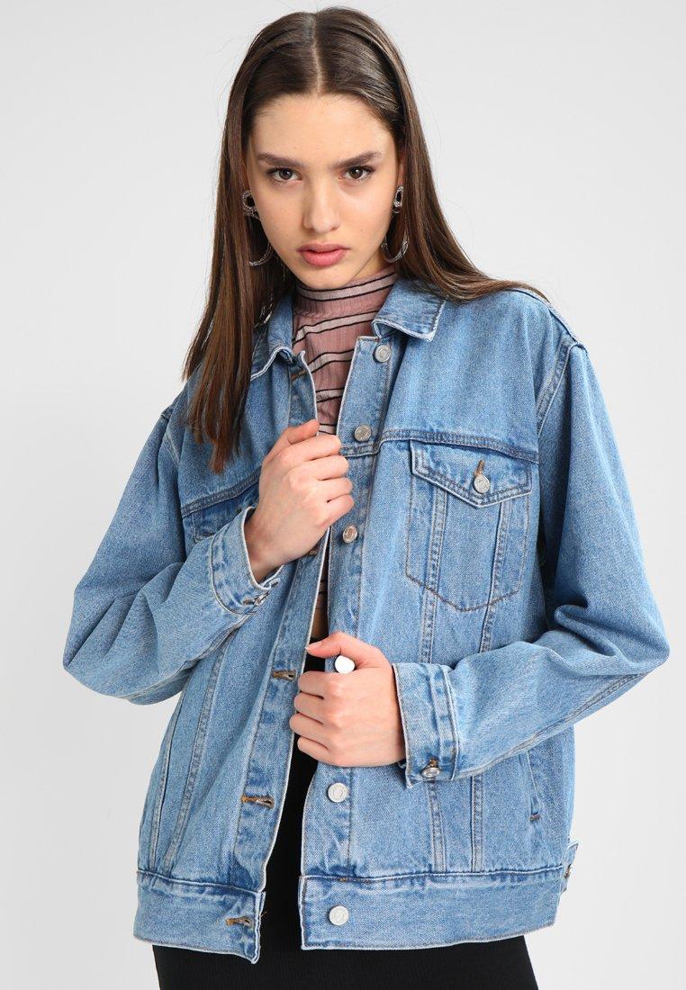 Missguided - OVERSIZED JACKET - Denim jacket - stonewash
