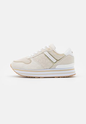 METALLIC FLATFORM - Trainers - white