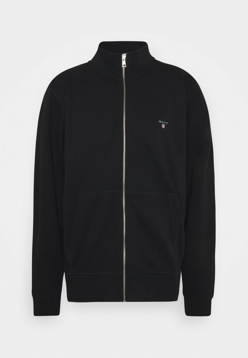 GANT - THE ORIGINAL FULL ZIP  - Felpa aperta - black
