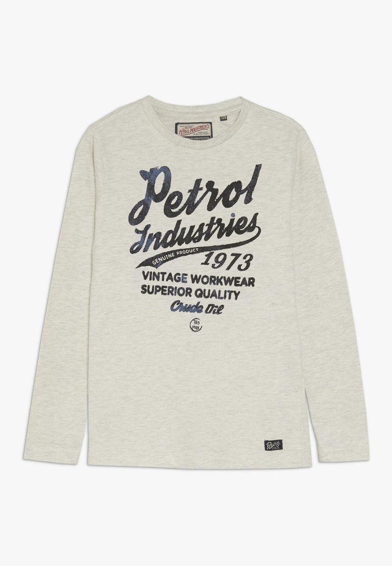 Petrol Industries - Langærmede T-shirts - antique white melee